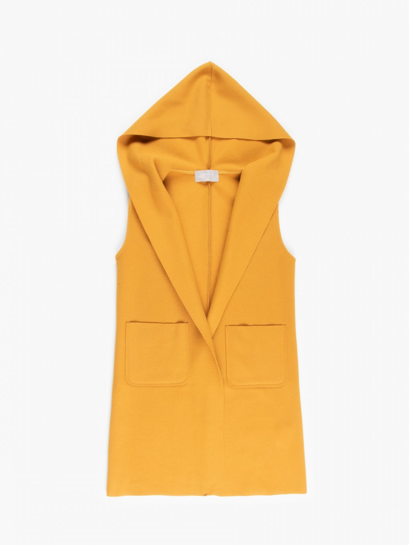 Oversize vest with hood