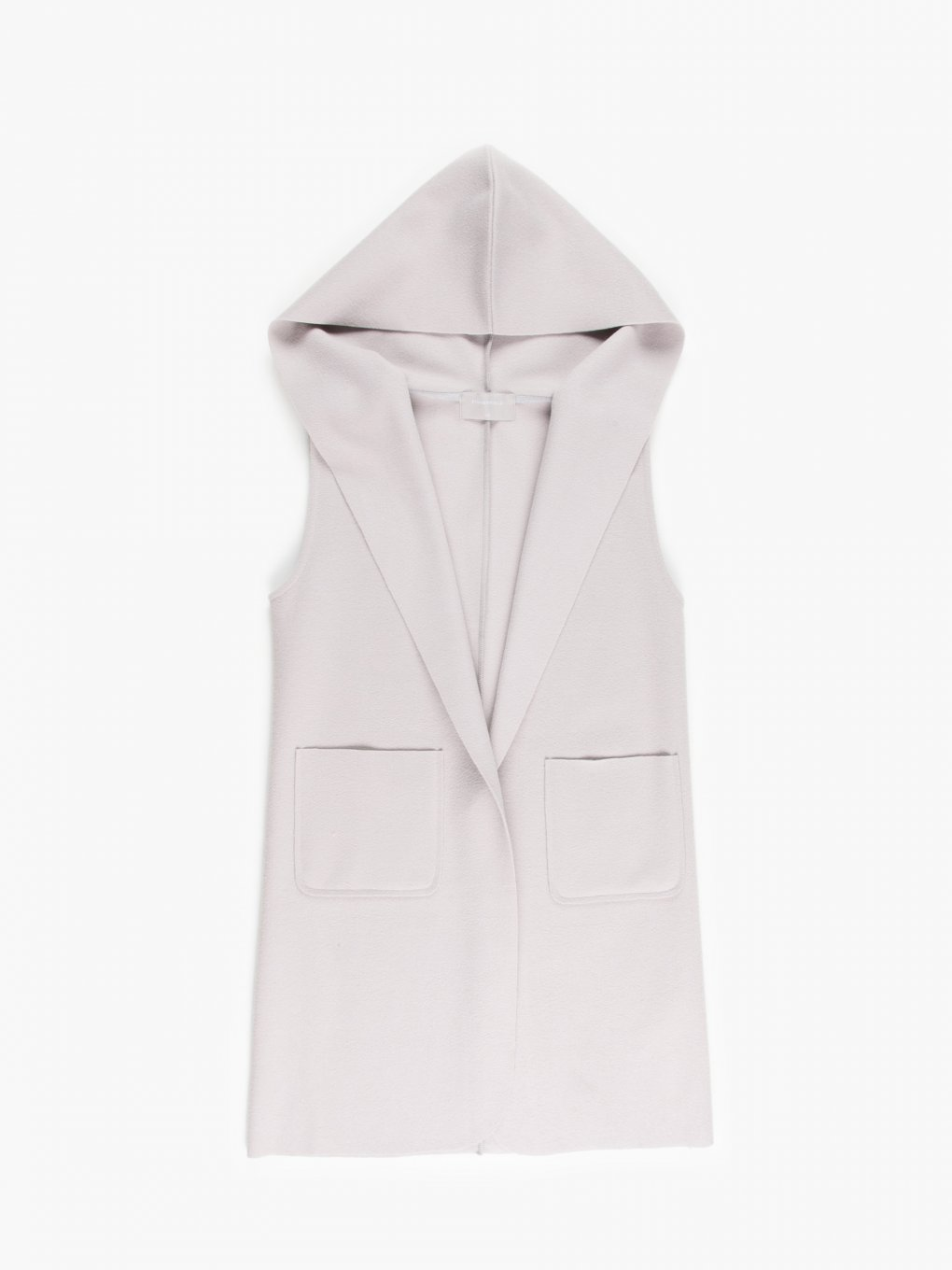 Oversize vest with hood