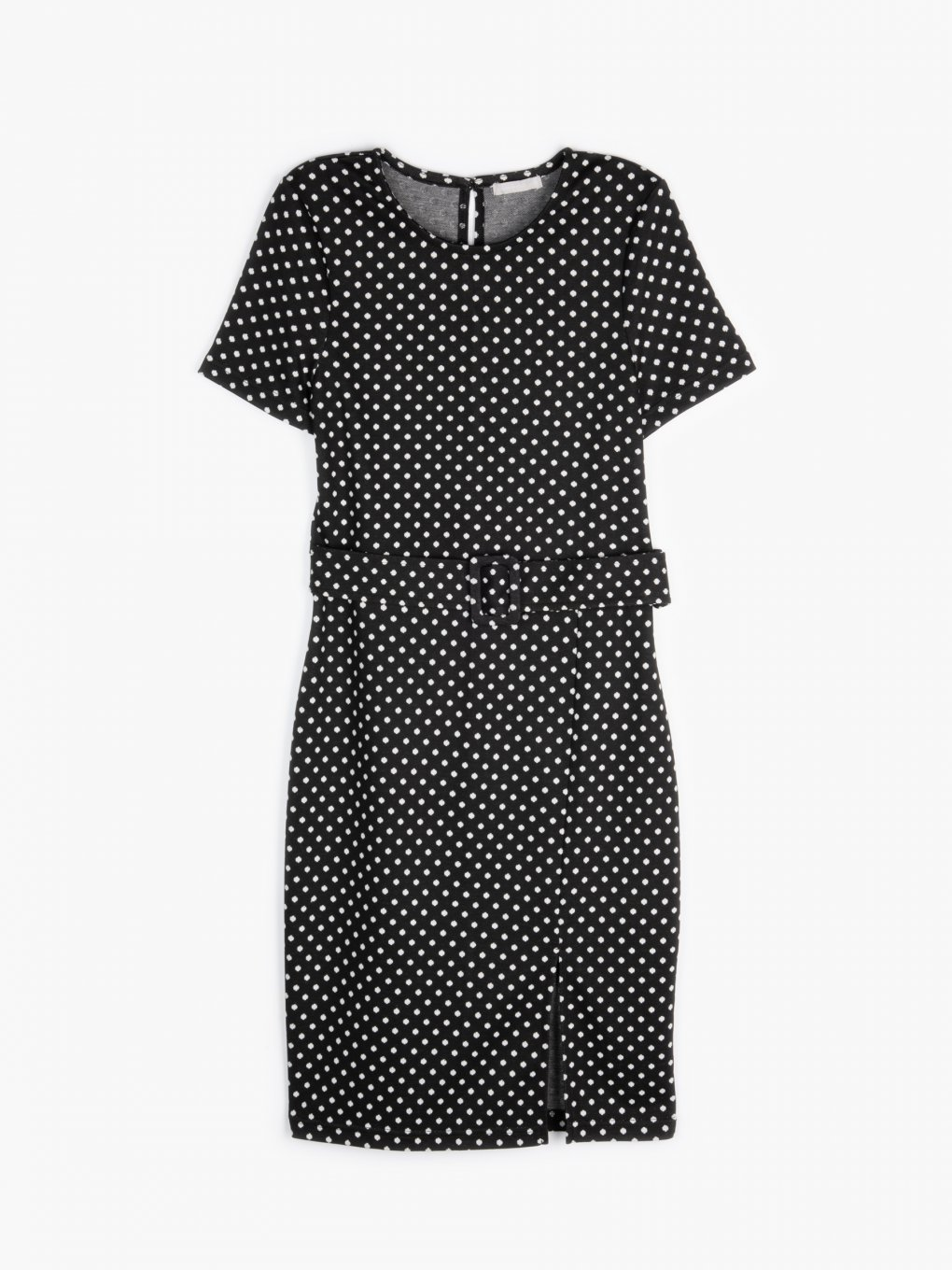 Polka dot print jersey dress