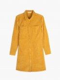 Corduroy button-down dress