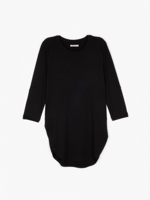 3/4 sleeve longline t-shirt