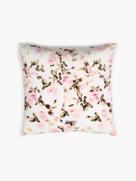 Flower print pillow