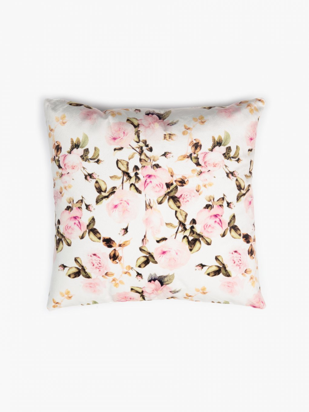 Flower print pillow