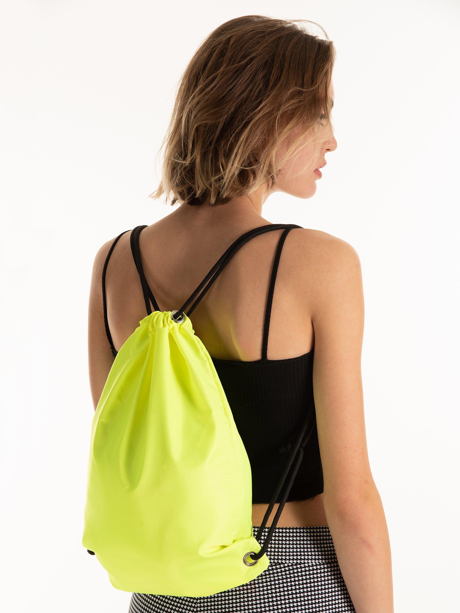 Drawstring Backpack Bright Pastel Chevron Bags