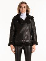 Sherpa lined aviator jacket