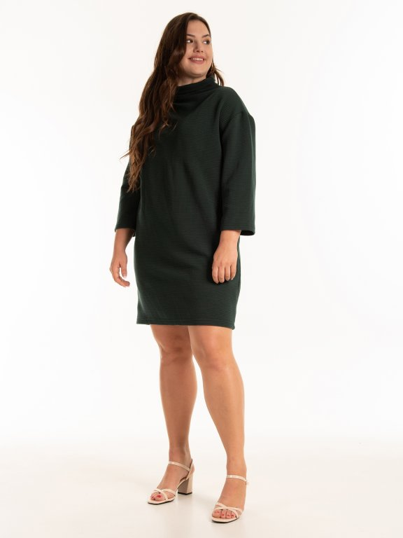 Structured dress with high neck