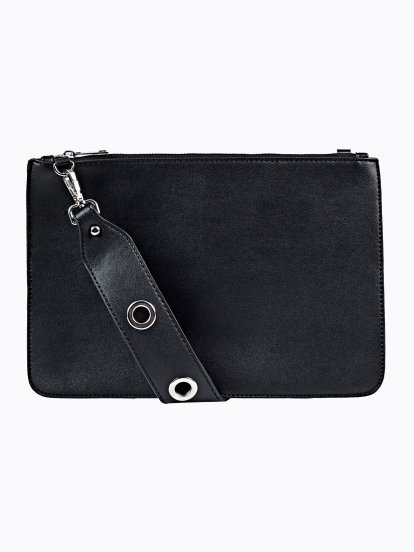 CROSS BODY BAG WITH EYELETS