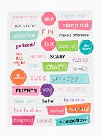 34-PACK FESTIVAL STICKERS SET