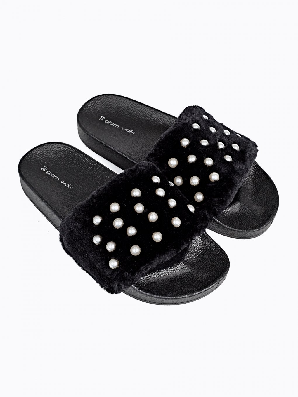 FLAT SLIDES WITH PEARLS