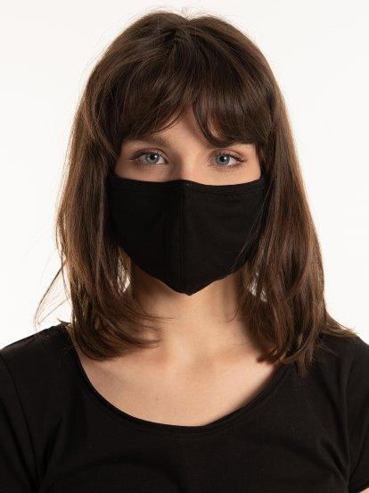 Dvojvrstvové elastické bavlnené ochranné rúško