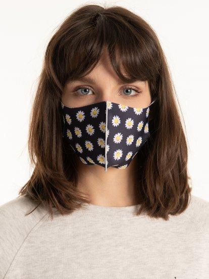 Floral print reusable face mask