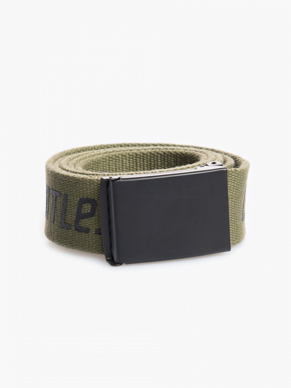 Canvas belt with metal buckle