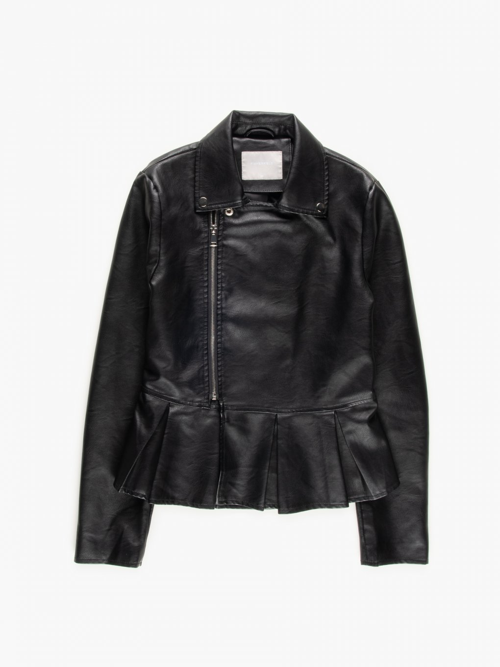 Biker jacket with ruffle