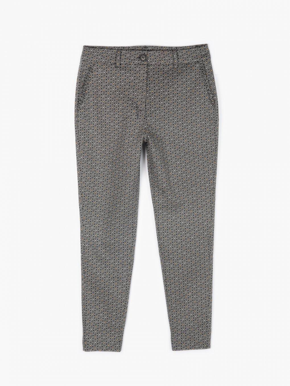 Vzorované elastické nohavice