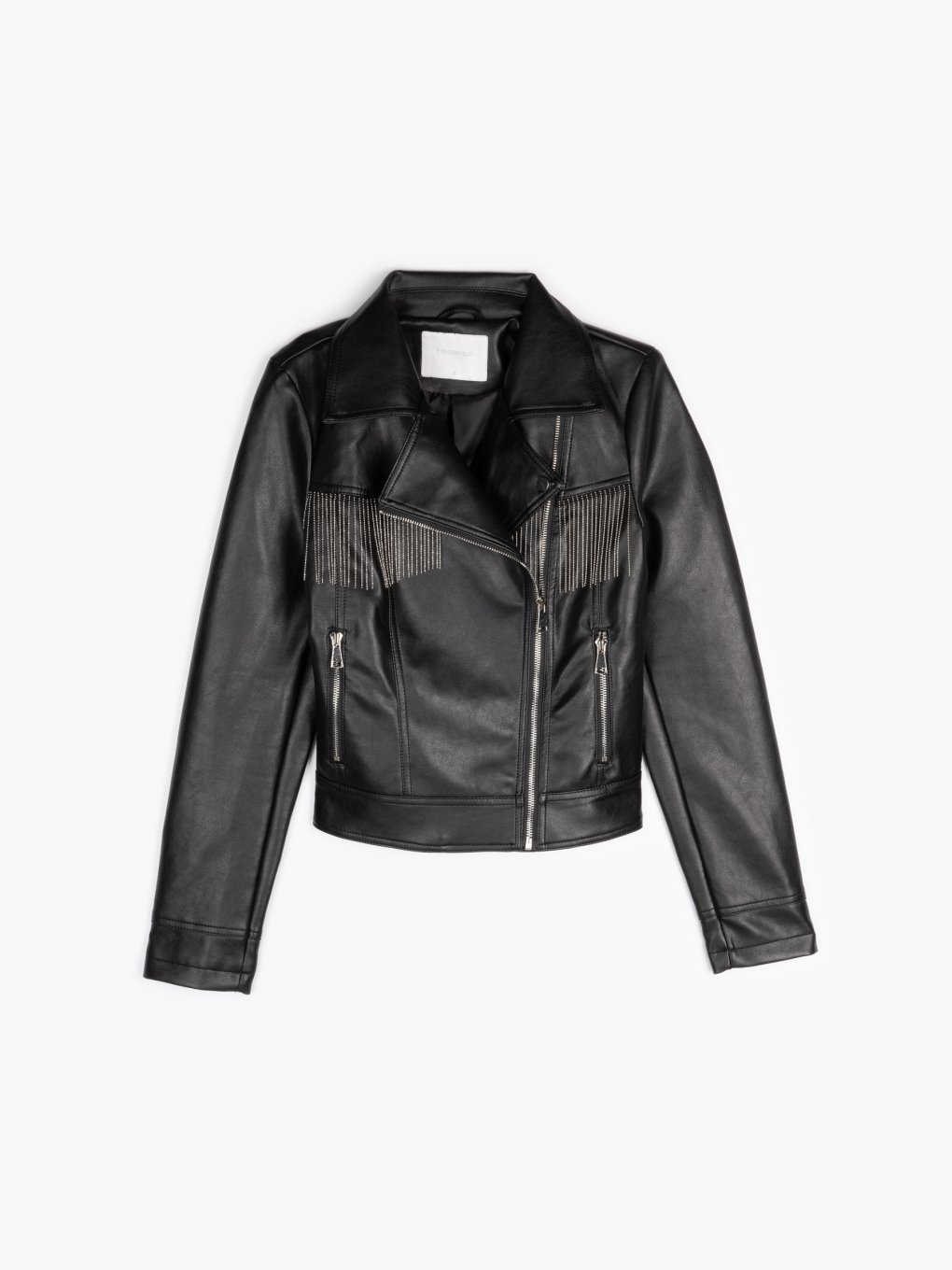 Biker jacket with tassels