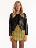 Faux leather biker jacket