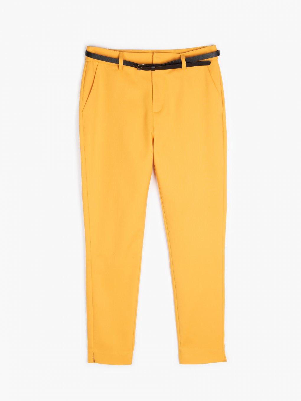 Elastické kalhoty s páskem