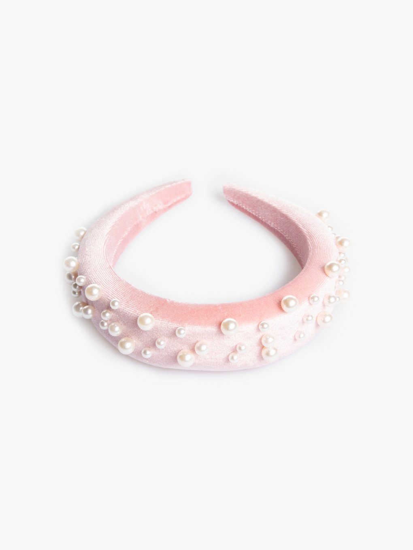 Vystužená čelenka s perlami
