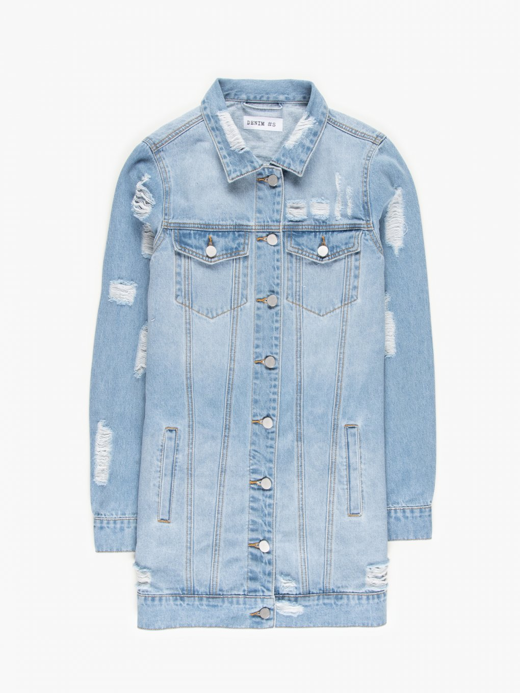 Damaged denim jacket