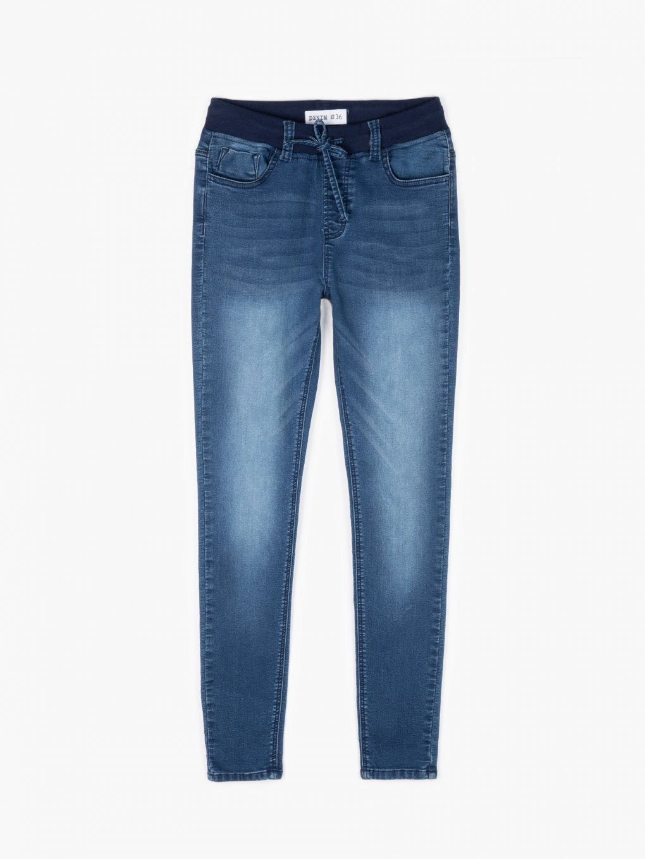 Elastic waist skinny jeans