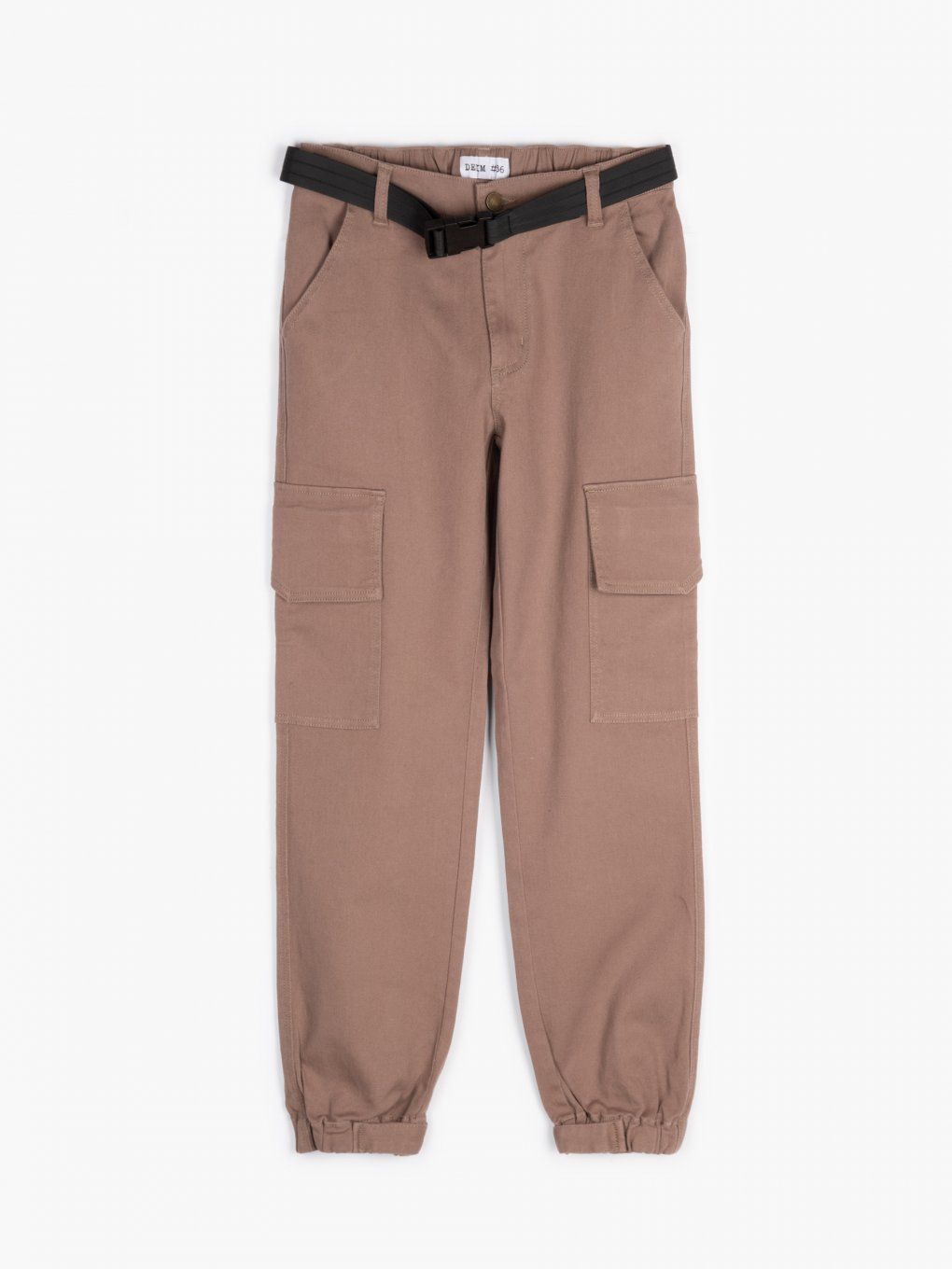 Cargo joggers with belt