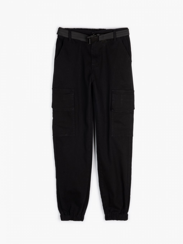 Kapsáčové nohavice s opaskom