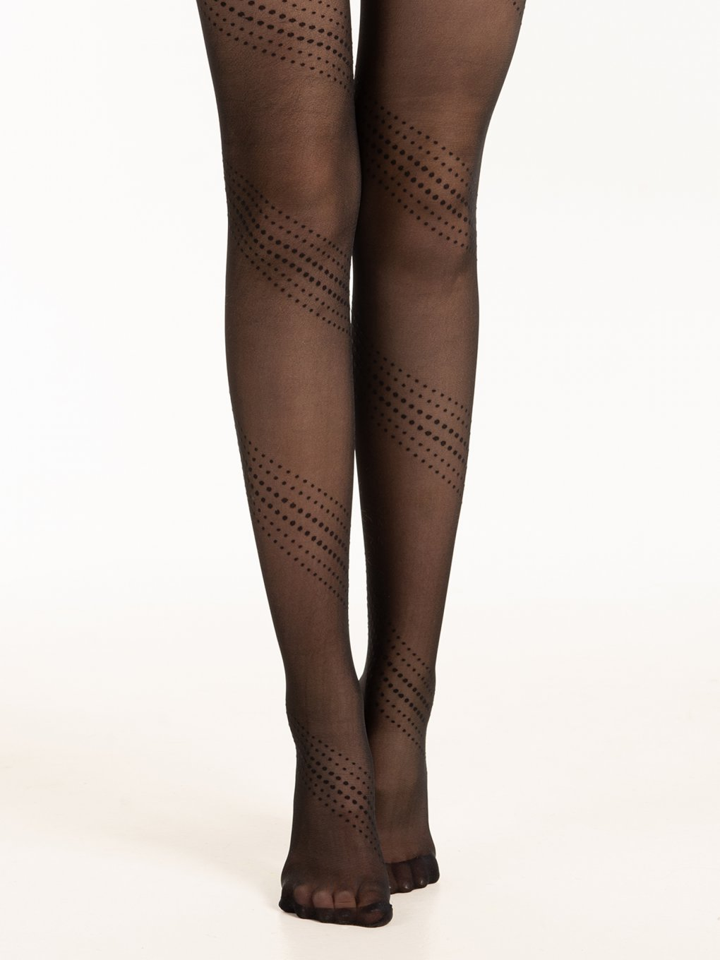 Nylon tights with dot pattern