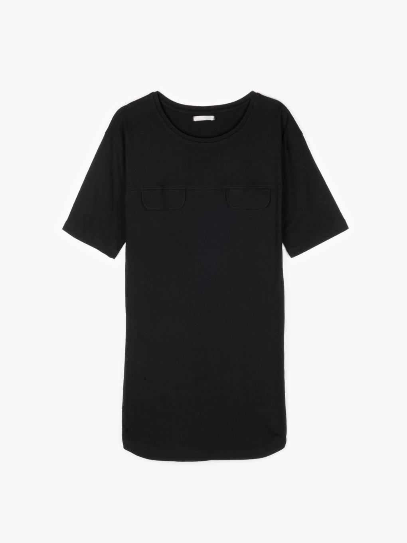 Longline cotton t-shirt