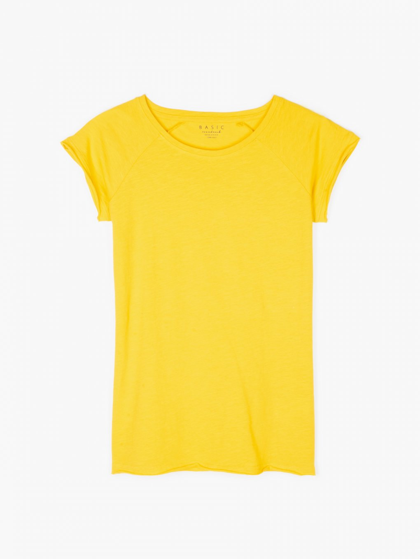 Jednoduché bavlněné triko s raglánovým rukávem