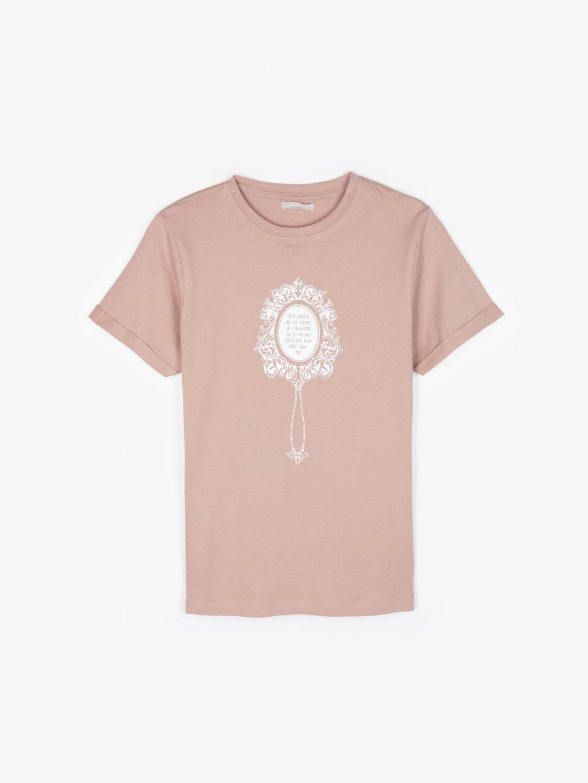 T-shirt z bawełny z nadrukiem