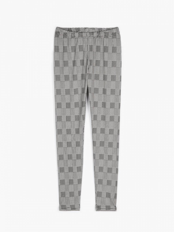 Checks print leggings