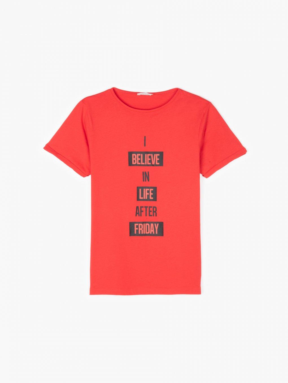 Cotton slogan t-shirt