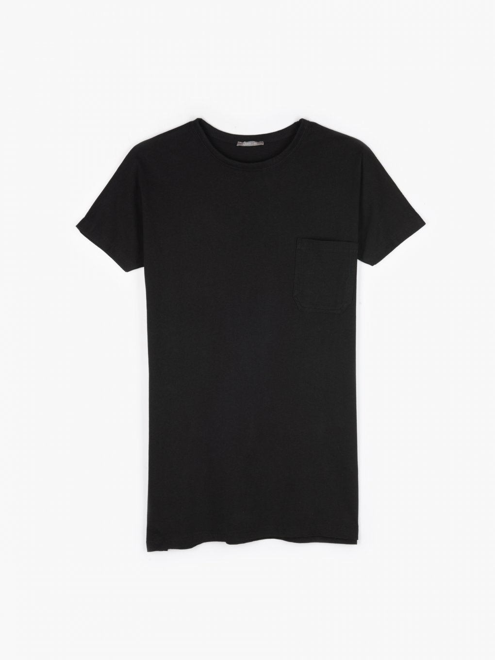 Basic longline t-shirt with pocket