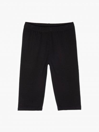 Basic cotton capri leggings