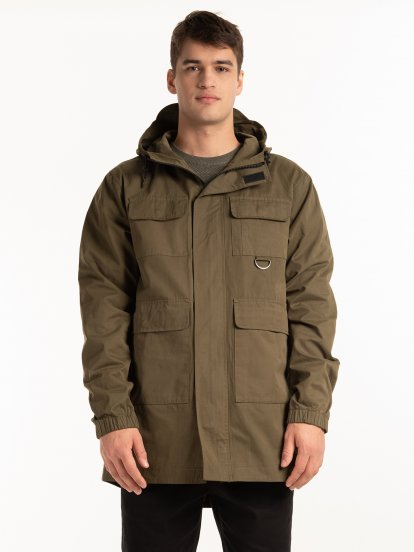 Hooded parka
