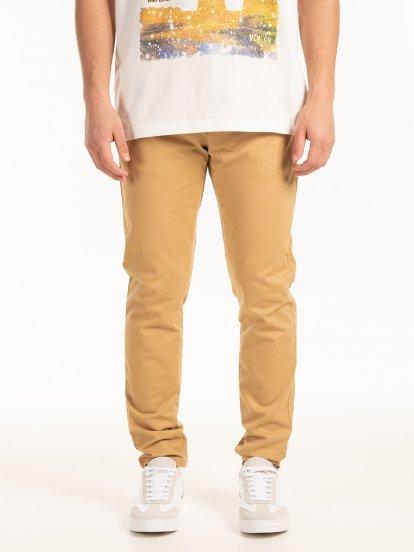 Strečové nohavice chino