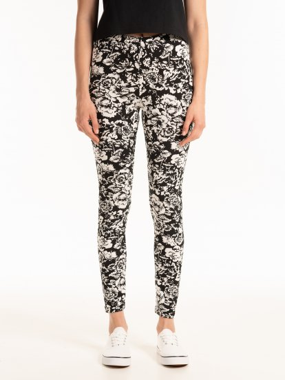 Foral print leggings