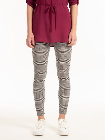 Plaid jeggings