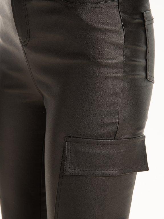 Skinny kapsáče z imitace kůže
