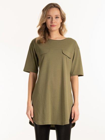 Prodloužené bavlněné tričko