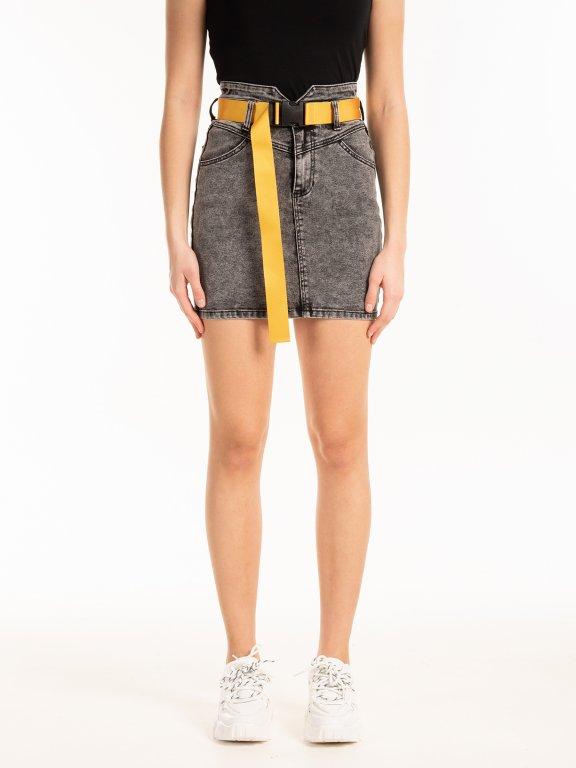 Denimová mini sukně