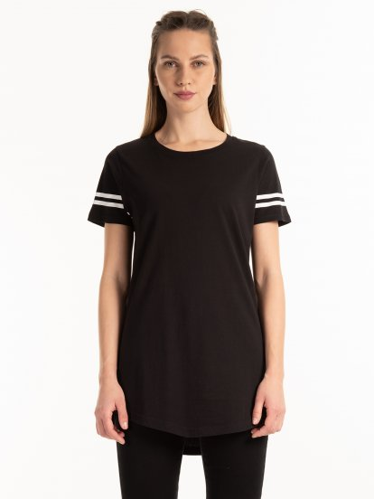 Cotton t-shirt with stripes