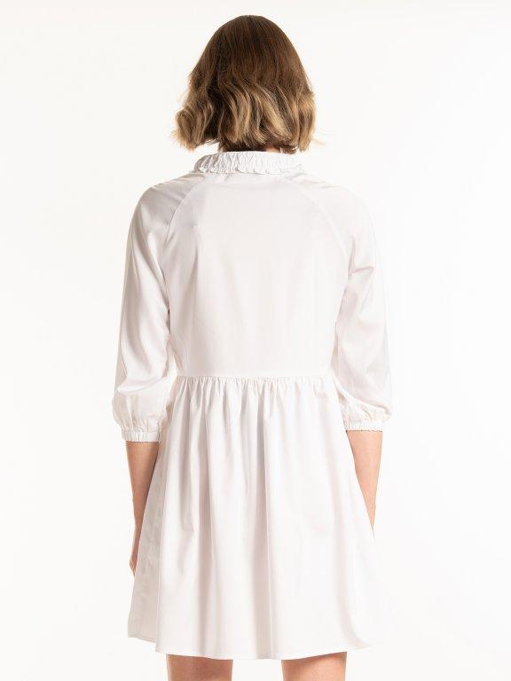 Šaty s nařaseným rukávem