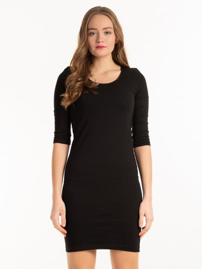 Basic jersey bodycon dress