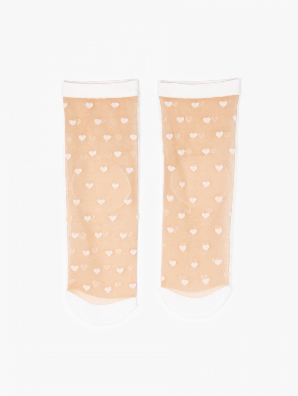Vzorované silónkové ponožky