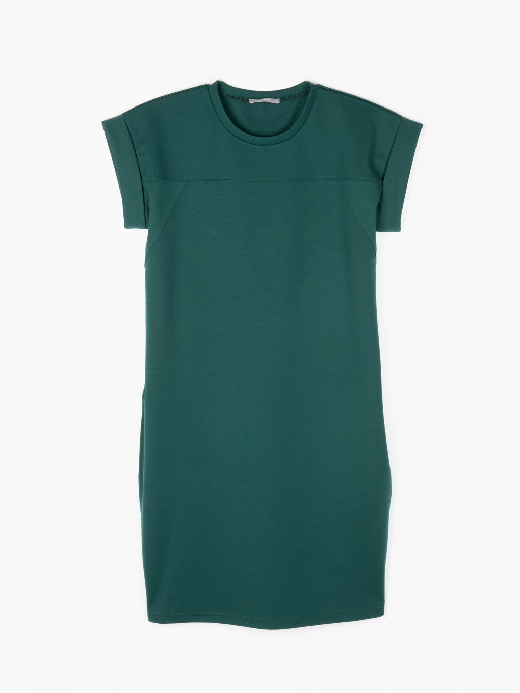 Plain dress with side pockets