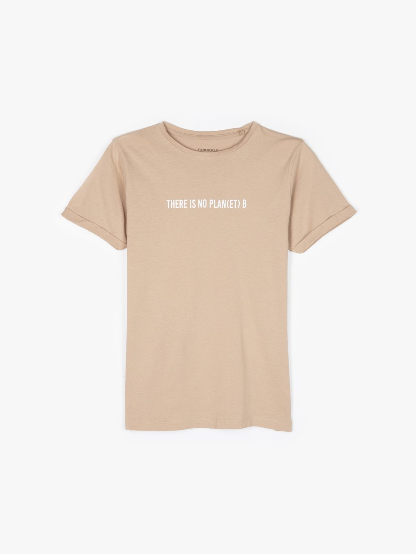 T-shirt wykonany z bawełny organicznej z napisem