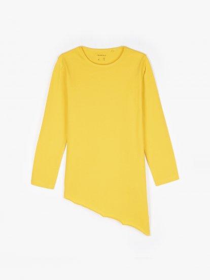 Asymmetric hem cotton t-shirt