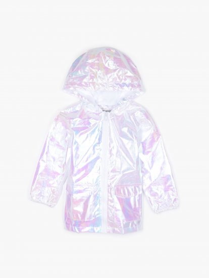 Holographic hooded jacket