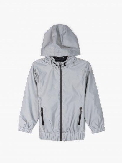 Reflective hooded jacket